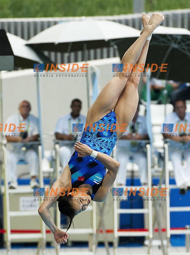 Minxia WU China Gold MEdal.Shanghai ,  (CHN) 16-31 July 2001.XIV FINA Swimming World Championships.day 08.Women 3m Springboard.Final..Photo Insidefoto / Giorgio Scala