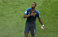 MOSCU - RUSIA, 15-07-2018: Paul POGBA jugador de Francia celebra como campeón del mundo después del partido por la final entre Francia y Croacia de la Copa Mundial de la FIFA Rusia 2018 jugado en el estadio Luzhnikí en Moscú, Rusia. / Paul POGBA player of France celebrates as world champion after the match between France and Croatia of the final for the FIFA World Cup Russia 2018 played at Luzhniki Stadium in Moscow, Russia . Photo: VizzorImage / Cristian Alvarez / Cont