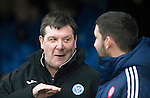 St Johnstone v Hamilton Accies&hellip;28.01.17     SPFL    McDiarmid Park<br />Tommy Wright talks with accies boss Martin Canning<br />Picture by Graeme Hart.<br />Copyright Perthshire Picture Agency<br />Tel: 01738 623350  Mobile: 07990 594431