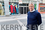 Pa Daly TD standing in front of the old Dunnes Store on The Mall on Thursday