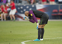 Commerce City, CO - Thursday June 08, 2017: Tim Howard during a 2018 FIFA World Cup Qualifying Final Round match between the men's national teams of the United States (USA) and Trinidad and Tobago (TRI) at Dick's Sporting Goods Park.