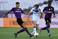 Erick Pulgar of Fiorentina and Alfredo Donnarumma of Brescia Calcio compete for the ball during the Serie A football match between ACF Fiorentina and Brescia Calcio at Artemio Franchi stadium in Florence ( Italy ), June 22th, 2020. Play resumes behind closed doors following the outbreak of the coronavirus disease. <br /> Photo Antonietta Baldassarre / Insidefoto