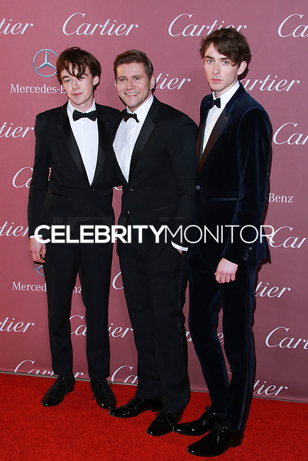 PALM SPRINGS, CA, USA - JANUARY 03: Alex Lawther, Allen Leech, Matthew Beard arrive at the 26th Annual Palm Springs International Film Festival Awards Gala Presented By Cartier held at the Palm Springs Convention Center on January 3, 2015 in Palm Springs, California, United States. (Photo by David Acosta/Celebrity Monitor)