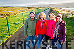 The Moore family from Fenit enjoying a walk on the new walkway between Cockleshell Rd and Lohercannon on Friday. L to r: John, Gemma, Clare and Hayley Moore.