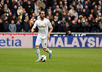 Pictured: Chico Flores of Swansea.  Saturday 30 March 2013<br /> Re: Barclay's Premier League, Swansea City FC v Tottenham Hotspur at the Liberty Stadium, south Wales.