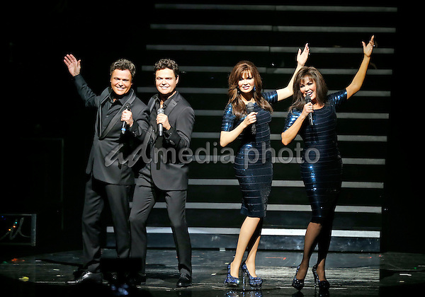 09 February 2016 - Las Vegas, Nevada - Donny Osmond, Marie Osmond. Donny and Marie Osmond's first Las Vegas  performance of 2013 with the unveiling of their Madame Tussaud's Wax Figures at Flamingo Las Vegas. Photo Credit: MJT/AdMedia