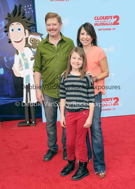"""Dave Foley and Alina Foley at Sony Pictures Animation Los Angeles Premiere Of """"Cloudy With A Chance Of Meatballs 2"""" held at The Regency Village Theatre in Westwood, California on September 21,2013                                                                   Copyright 2013 Hollywood Press Agency"""