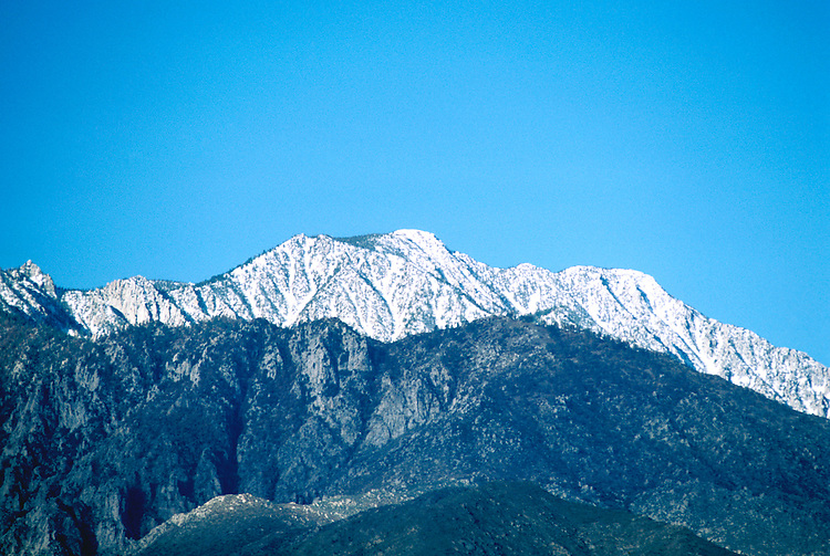 California: Palm Springs.  Mt San Jacinto.  Photo #: capalm102..Photo copyright Lee Foster, 510/549-2202, lee@fostertravel.com, www.fostertravel.com
