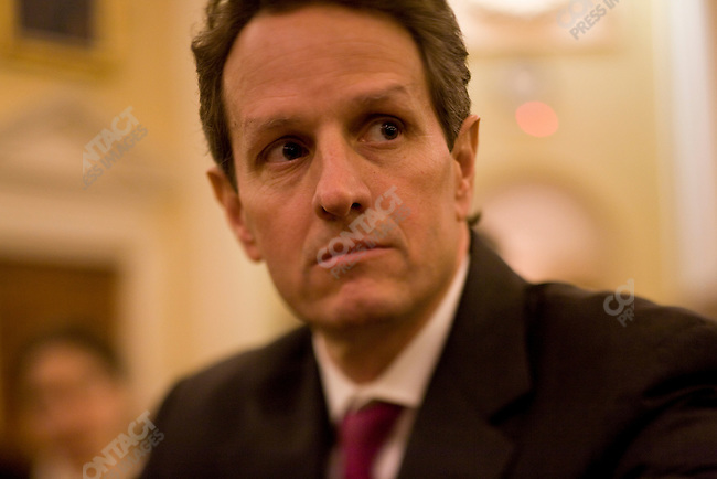Secretary of the Treasury Timothy Geithner appears before the House Ways and Means Committee at the US Capitol, Washington D.C., March 2, 2009.