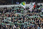 Stockholm 2014-01-10 Bandy Elitserien Hammarby IF - Sandvikens AIK :  <br />  Hammarby supportrar med halsdukar <br /> (Foto: Kenta J&ouml;nsson) Nyckelord:  supporter fans publik supporters