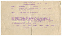 BNPS.co.uk (01202 558833)<br /> Pic: IAA/BNPS<br /> <br /> Order issued at 8.50pm on May 4, 1945.<br /> <br /> The first Allied cease fire order issued by British army supremo Field Marshal Bernard Montgomery following the German surrender in World War Two has emerged.<br /> <br /> The historical document was issued at 8.50pm on May 4, 1945 and reads: &quot;All offensive ops will cease fire from receipt this signal. <br /> <br /> &quot;Orders will be given to all troops to cease fire 0800 hrs tomorrow SATURDAY 5 MAY. Full terms of local GERMAN surrender arranged today for 21 ARMY GROUP front follow.&quot;<br /> <br /> It was drawn up two-and-a-half hours after the German high command signed the official surrender in front of Montgomery on Luneburg Heath in Germany.