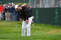 Hideki Matsuyama (JPN) chips on to 6 during round 2 of the 2019 US Open, Pebble Beach Golf Links, Monterrey, California, USA. 6/14/2019.<br /> Picture: Golffile | Ken Murray<br /> <br /> All photo usage must carry mandatory copyright credit (© Golffile | Ken Murray)