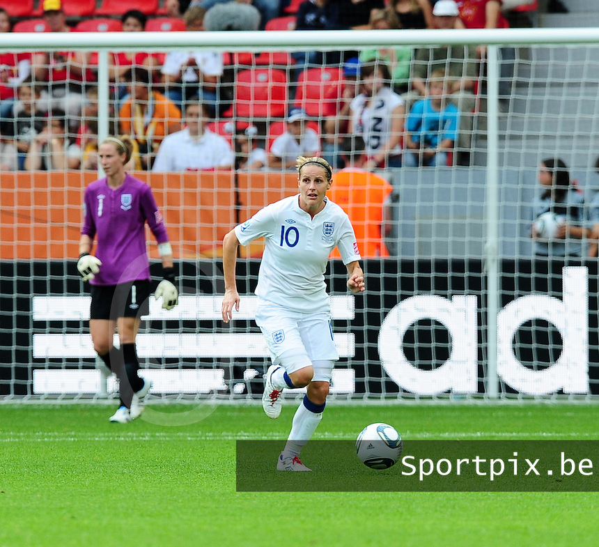 Fifa Women's World Cup Germany 2011 : England - France - at Leverkusen : Kelly Smith.foto DAVID CATRY / Vrouwenteam.be