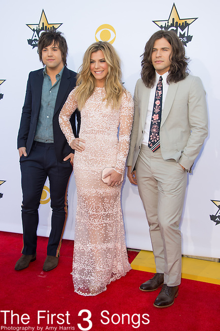Reid Perry, Kimberly Perry and Neil Perry of The Band Perry attend the 50th Academy Of Country Music Awards at AT&T Stadium on April 19, 2015 in Arlington, Texas.