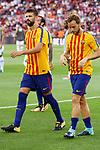 52e Trofeu Joan Gamper.<br /> FC Barcelona vs Chapecoense: 5-0.<br /> Gerard Pique &amp; Ivan Rakitic.