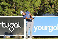 Simon Khan (ENG) tees off the 8th tee during Thursday's Round 1 of the 2016 Portugal Masters held at the Oceanico Victoria Golf Course, Vilamoura, Algarve, Portugal. 19th October 2016.<br /> Picture: Eoin Clarke | Golffile<br /> <br /> <br /> All photos usage must carry mandatory copyright credit (&copy; Golffile | Eoin Clarke)