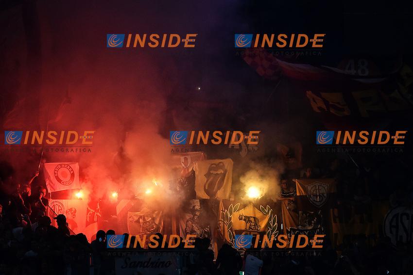 Tifosi Roma Supporters <br /> Roma 21-10-2014 Stadio Olimpico, Football Calcio Champions League Group Stage Group E AS Roma - Bayern. Foto Andrea Staccioli / Insidefoto