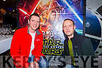 Tom Cox Kilcummin and John Keane Killarney at  the Premiere of the Star Wars The Force Awakens in Killarney Cinema on Thursday