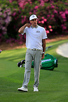 Bubba Watson (USA) on the 13th green during the 1st round at the The Masters , Augusta National, Augusta, Georgia, USA. 11/04/2019.<br /> Picture Fran Caffrey / Golffile.ie<br /> <br /> All photo usage must carry mandatory copyright credit (© Golffile | Fran Caffrey)