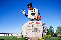 Happy Rock, Gladstone, Manitoba, Canada - Tourist Attraction and Visitor Information Centre