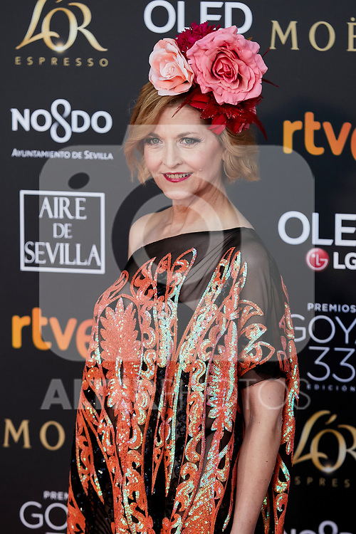 Azucena de la Fuente attends to 33rd Goya Awards at Fibes - Conference and Exhibition  in Seville, Spain. February 02, 2019. (ALTERPHOTOS/A. Perez Meca)
