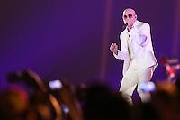 TORONTO, CANADÁ, 26.07.2015 - PAN-ENCERRAMENTO - O rapper Pitbull  durante Cerimonia de encerramento dos jogos Pan-americanos no Rogers Centre em Toronto neste domingo, 26.   (Foto: William Volcov/Brazil Photo Press)
