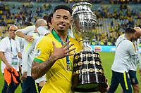 Rio de Janeiro (RJ), 07/07/2019 - Copa América / Final / Brasil x Peru -  Gabriel Jesus do  Brasil comemora título da Copa América no Estádio do Maracanã no Rio de Janeiro neste domingo, 07. (Foto: Clever Felix/Brazil Photo Press)