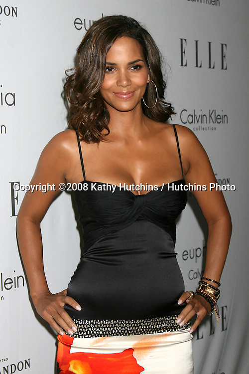 "Halle Berry  arriving at the Elle's ""Women in Hollywood Event"" at the Four Seasons Hotel in Los Angeles,  CA on.October 6, 2008.©2008 Kathy Hutchins / Hutchins Photo....                ."