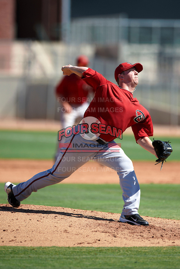Arizona Diamondbacks minor league pitcher Kyle Winkler #22 during an instructional league game against the Los Angeles Angels at the Tempe Diablo Minor League Complex on October 1, 2012 in Tempe, Arizona.  (Mike Janes/Four Seam Images)