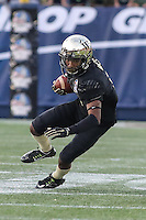 Annapolis, MD - December 27, 2016: Wake Forest Demon Deacons wide receiver Tabari Hines (1) catches a pass during game between Temple and Wake Forest at  Navy-Marine Corps Memorial Stadium in Annapolis, MD.   (Photo by Elliott Brown/Media Images International)