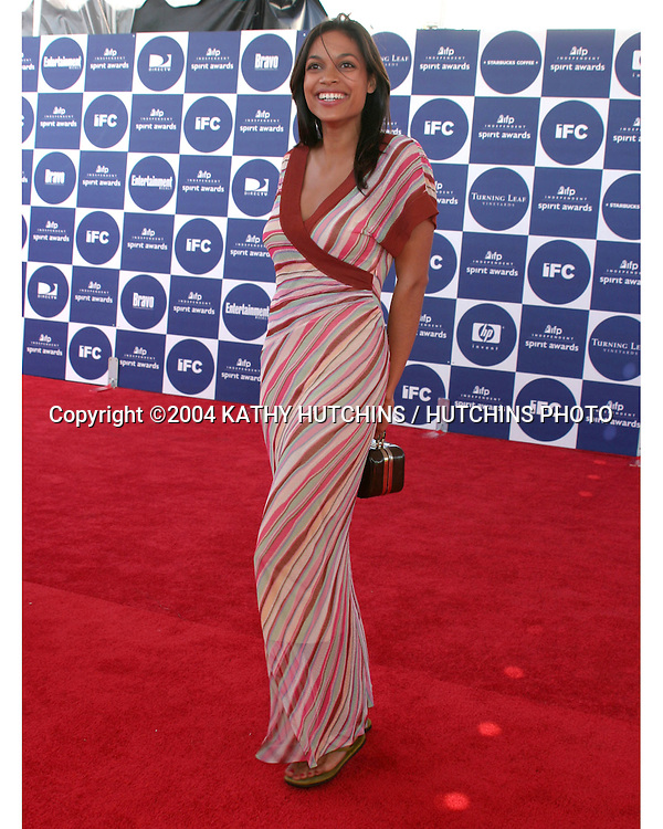 ©2004 KATHY HUTCHINS /HUTCHINS PHOTO.2004 IFP INDEPENDENT SPIRIT AWARDS.SANTA MONICA, CA.FEBRUARY 28, 2004..ROSARIO DAWSON