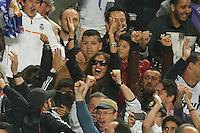 LISBOA, PORTUGUAL, 24.05.2014 - LIGA DOS CAMPEOES - REAL MADRID - ATLETICO DE MADRID - Irina Shayk namorada de Cristiano Ronaldo do Real Madrid comemora a conquista da Liga dos Campeões após a vitória por 4 a 1, na prorrogação contra o Atlético de Madrid, no estádio da Luz, em Lisboa, Portugal, neste sábado. O Real conquistou a taça da Liga pela 10ª vez. (PHOTO: PIXATHLON / BRAZIL PHOTO PRESS).