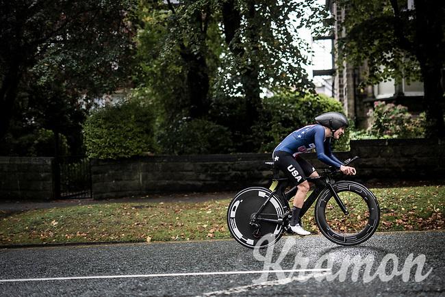 Amber Neben (USA)<br /> Elite Women Individual Time Trial<br /> <br /> 2019 Road World Championships Yorkshire (GBR)<br /> <br /> ©kramon
