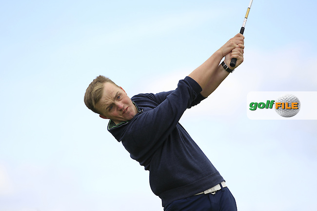 Thomas Mulligan (Co. Louth) at the 14th tee during Round 4 of the Irish Amateur Open Championship at Royal Dublin on Sunday 10th May 2015.<br /> Picture:  Thos Caffrey / www.golffile.ie