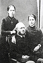 Undated - Sir Harry Smith Parkes (1828 - 1885) with his daughters, 19th century British diplomat who worked mainly in China and Japan. He was made Knight Commander of the Order of the Bath (KCB) in 1862.(Photo by Kingendai Photo Library/AFLO)