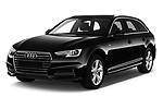 2018 Audi A4 Avant Sport 5 Door Wagon angular front stock photos of front three quarter view