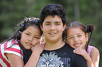 Child refugees Valentina, Natalia and David along with their mother Marta from Colombia are now enjoying a good life here in Kaslo, BC.