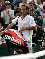 28-6-06,England, London, Wimbledon, first round match,  Lopez