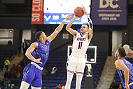 Washington, DC - December 22, 2018: Howard Bison guard Kyle Foster (11) attempts a shot during the DC Hoops Fest between Hampton and Howard at  Entertainment and Sports Arena in Washington, DC.   (Photo by Elliott Brown/Media Images International)