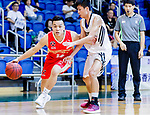Hong Yi Yiang #14 of Nam Ching Basketball Team goes to the basket against the Eagle during the Hong Kong Basketball League game between Eagle and Nam Ching at Southorn Stadium on June 22, 2018 in Hong Kong. Photo by Yu Chun Christopher Wong / Power Sport Images