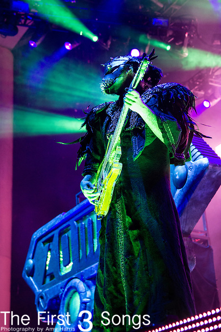 John 5 of Rob Zombie performs during the 2013 Mayhem Festival at Klipsch Music Center in Indianapolis, Indiana.