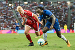 Chelsea Midfielder Victor Moses (R) in action against Bayern Munich Defender Felix Gotze (L) during the International Champions Cup match between Chelsea FC and FC Bayern Munich at National Stadium on July 25, 2017 in Singapore. Photo by Marcio Rodrigo Machado / Power Sport Images
