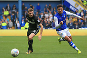 1st October 2017, Hillsborough, Sheffield, England; EFL Championship football, Sheffield Wednesday versus Leeds United; Liam Palmer of Sheffield Wednesday skins Stuart Dallas of Leeds United FC and leaves him standing