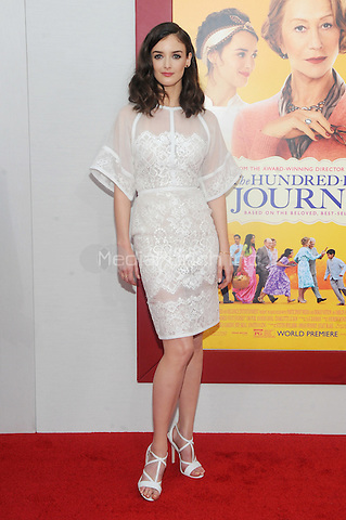 New York, NY- August 4: Actress Charlotte Le Bon attends the world premiere of Dreamworks pictures' 'The Hundred-Foot Journey' on August 4, 2014 at the Ziegfeld Theater in New York City. Credit: John Palmer/MediaPunch