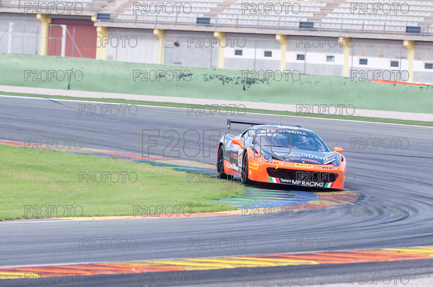 VALENCIA, SPAIN - OCTOBER 2: Thomas Gostner during Valencia Ferrari Challenge 2015 at Ricardo Tormo Circuit on October 2, 2015 in Valencia, Spain