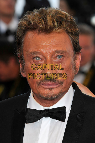 JOHNNY HALLYDAY.'Vengance' screening.62nd International Cannes Film Festival.Cannes, France. 17th May 2009.portrait headshot tanned sun tan skin beard facial hair black bow tie .CAP/PL.©Phil Loftus/Capital Pictures