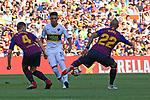 53e Trofeu Joan Gamper.<br /> FC Barcelona vs Club Atletico Boca Juniors: 3-0.<br /> Ivan Rakitic, Emanuel Reynoso &amp; Arturo Vidal.