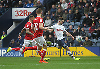Preston North End's Sean Maguire gets a shot on goal<br /> <br /> Photographer Mick Walker/CameraSport<br /> <br /> The EFL Sky Bet Championship - Preston North End v Bristol City - Saturday 2nd March 2019 - Deepdale Stadium - Preston<br /> <br /> World Copyright © 2019 CameraSport. All rights reserved. 43 Linden Ave. Countesthorpe. Leicester. England. LE8 5PG - Tel: +44 (0) 116 277 4147 - admin@camerasport.com - www.camerasport.com