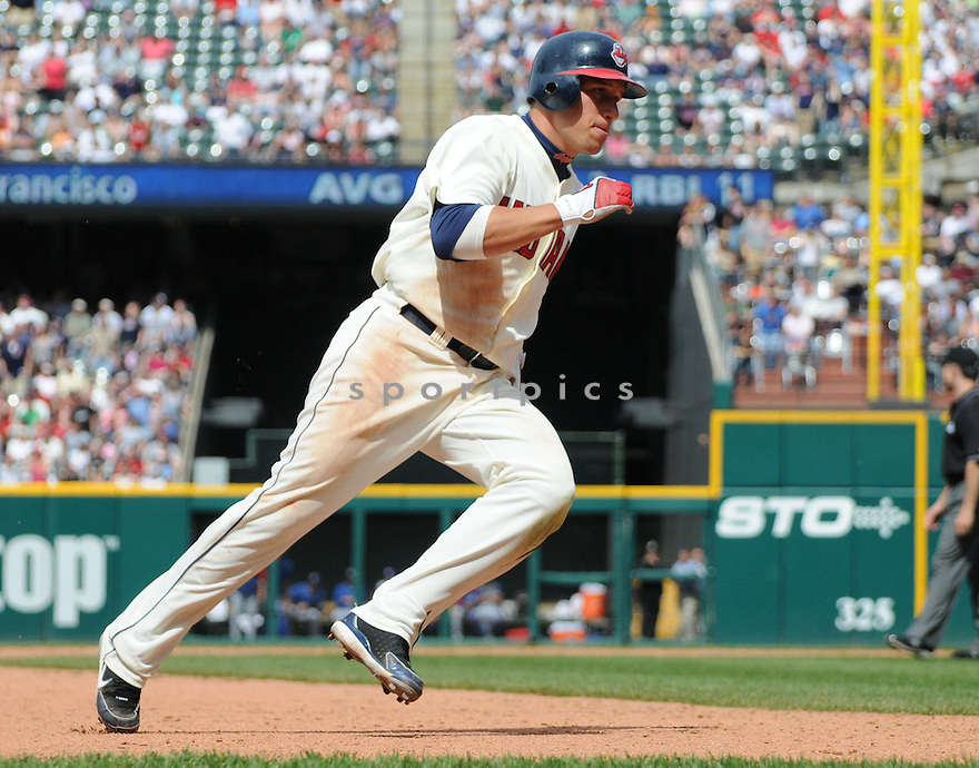 JAMEY CARROLL, of the Cleveland Indians, in action against the Texas Rangers  during the Indians game in Cleveland, OH on May 25, 2008. The Rangers won the game 2-1.