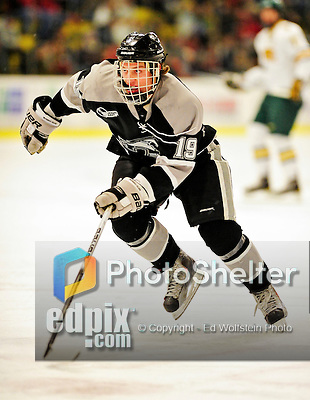 5 February 2011: Providence College Friar center Derek Army, a Freshman from North Kingstown, R.I. in action against the University of Vermont Catamounts at Gutterson Fieldhouse in Burlington, Vermont. The Catamounts defeated the Friars 7-1 in the second game of their weekend series. Mandatory Credit: Ed Wolfstein Photo